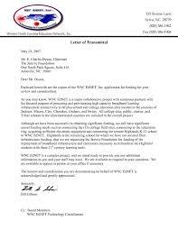 Letter Letter Transmittal Example