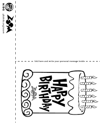 Horizontal Best Printable Birthday Cards For Kids Style Coloring Page Excellent Downoadable Templates