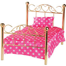 Amazon CP Toys Brass plated Doll Bed with Matrress and