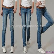 Mens New Fashion Vogue Jeans Oem Sexy Ladies Tops Latest Design Denim Jean Girls