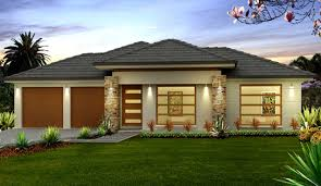 Single Home Designs With Well Simple One Story House Design Concept