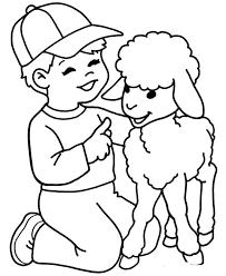 Free Printable Lamb Coloring Page