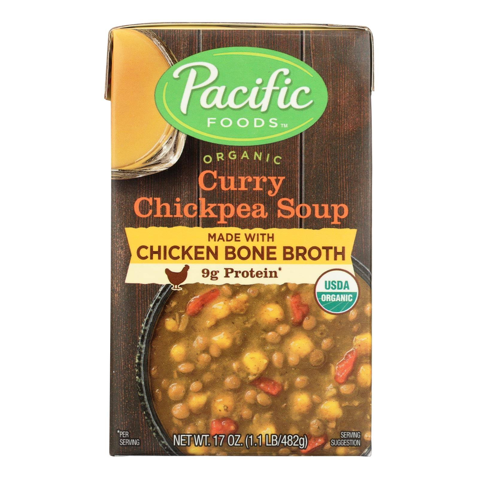 Pacific Foods Organic Curry Chickpea Soup, 17 oz