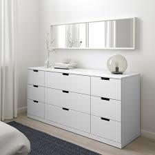 nordli kommode mit 9 schubladen weiß 160x76 cm