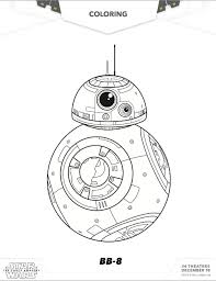 Free Star Wars BB8 Coloring Pages The Force Awakens Sheets Via MommyMafia