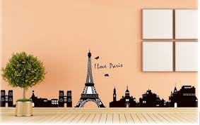 paris eiffel tower home decoration wall stickers vinyl painting