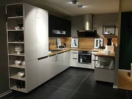 schüller musterküche küche grau holz moderne u küche in