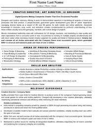 Creative Director Resume Sample Template Rh Resumetarget Ca