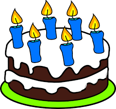 Cake 6 Candles clip art vector clip art online royalty free