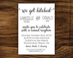 Elegant Wedding Invitation Wording Casual Reception Only