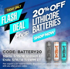 Myvaporstore - FLASH DEAL! . Get Lithicore Batteries For ... Liquid Nicotine Whosalers Nic And Nic Salts Review By Diy Top 3 Reasons To Invest In Iventure Card Eightvape Hashtag On Twitter Best Online Vape Store And Shops For 2019 License Samsung Cell Phone Accsories From Zizo Wireless Eight Coupon Coupontopay 1080p Youtube 4th Of July Sales 2018 Discounts Deals Eliquid 20 Off Premier Research Labs Promo Codes Coupons Cinnamon Ejuice On The Market Eightvape Ross Dress Less Printable Crazy Love Store Myvapstore Flash Deal Coupon Codes Smoktech Just
