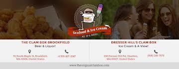 Dresser Hill Charlton Ma Menu by The Clam Box Best Seafood Restaurant In Brookfield Ma