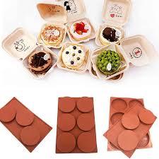 3 6 loch silikon form 4 zoll kuchen form praktische kuchen dekoration werkzeuge kuchen werkzeug backen zubehör schokolade keks form diy
