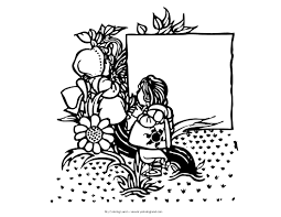 Arkansas State Flower Fairy Coloring Pages