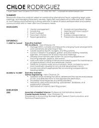 Resume Examples For Admin Jobs Also Executive Assistant Example To Create Cool Sample In Singapore 767
