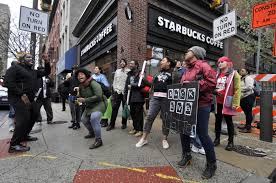 Original Starbucks Logo Upside Down New Manager Of Philly Store Where Two Black Men Were
