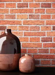 newroom papiertapete steintapete rot ziegelstein backstein mauerwerk klinker tapete steinoptik wohnzimmer schlafzimmer flur tapete steinoptik