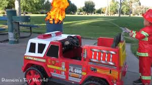 100 Fire Truck Power Wheels Unboxing Ride On Engine Pretend Play