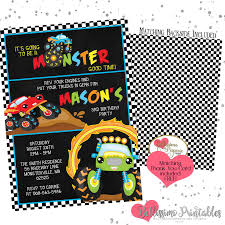 Monster Truck Birthday Invitation Printable And 50 Similar Items Birthday Cards Boys Monster Trucks Truck Nestling Party Invitations Invitation Examples Truck Racing Car 2 3 Etsy 13 Best Jam Inspirational Amazon Lovely Cyclops 19 Mormotanet Pink Svg File With Hearts To Make Shirts Invitations Invite Naptime Serenity Invites Unique Of Blaze And The Templates Free Printable Free