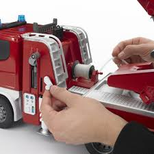 Bruder Toys 03590 Scania R-Series Fire Engine Truck With Working ... 9 Fantastic Toy Fire Trucks For Junior Firefighters And Flaming Fun Bruder 116 Man Engine Crane Truck With Light Sound Module At Toys Slewing Laddwater Pumplightssounds Bruder Toys Water Pump Lights Youtube Mack Granite 02821 Product Demo Amazoncom Jeep Rubicon Rescue Fireman Vehicle Sprinter Toyworld Rseries Scania Mighty Ape Australia Tga So Mack Side Loading Garbage A Video Review By Mb Arocs Service 03675
