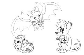 Monster High Coloring Pages From Some School Monsters With Regard To Pets