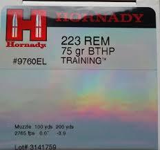 Hornady 5 56 NATO 75gr TAP SBR