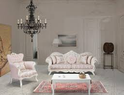 casa padrino luxus barock wohnzimmer set rosa weiß gold 2 sofas 2 sessel 1 couchtisch wohnzimmer möbel im barockstil edel prunkvoll