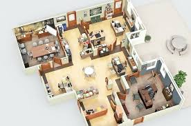 Floor Plan Software Mac by Perfect 3d House Blueprints And Plans With 3d Floor Plans 1 2 3 4