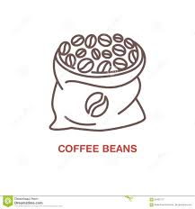 Coffee Beans In Bag Vector Line Icon Barista Equipment Linear Logo