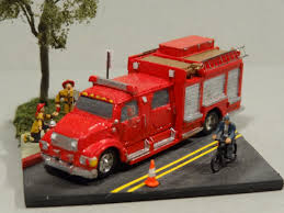 99 N Scale Trucks Fire Truck Diorama Front View Miniatures Pinterest