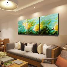 3Pcs Modern Peacock Canvas Painting Frameless Wall Art Bedroom