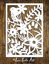Paper Cutting Patterns Flower Simple Templates Easy Chinese Designs