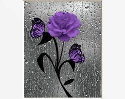 Surprising Purple Wall Art Canvas For Bedroom Uk Stickers Decor Metal Bathroom Ebay Amazon