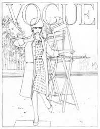 Et Si On Coloriait Les Plus Belles Couvertures De Vogue Paris