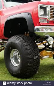 Suv Chevy Chevrolet Blazer Truck Fitted With Monster Truck Tyres Suv ...