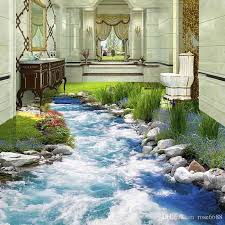 Modest Decoration 3d Floor Painting Photo Any Size Wallpaper Lake Fashion Decor Home