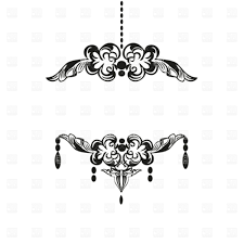 Gold Chandelier Clip Art Black Vintage Silhouette Download Royalty Free Vector File Eps 48180 Plans