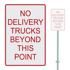 NO DELIVERY TRUCKS BEYOND THIS POINT HEAVY DUTY ALUMINUM WARNING ... No Trucks In Driveway Towing Private Drive Alinum Metal 8x12 Sign Allowed Traffic We Blog About Tires Safety Flickr Stock Photo Royalty Free 546740 Shutterstock Truck Prohibition Lorry Or Parking Icon In The No Trucks Over 5 Tons Sign Air Designs Vintage All No Trucks Over 6000 Pounds Sign The Usa 26148673 Alamy Heavy 1 Tonne Metal Semi Allowed Illustrations Creative Market Picayune City Officials Police Update Signage Notruck Zone