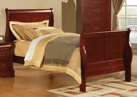 louis phillipe iii full sleigh bed in cherry 19528f
