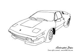 Cars Coloring Page Lamborghini Jalpa
