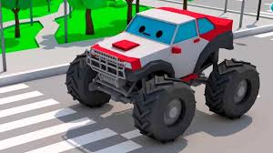 100 Kids Monster Truck Videos And Car Race 3 Racing Cars For Video For