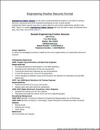 Pdf Resume Template Mechanical Engineering Templates Nice Format Engineer Fresher Elegant Samples