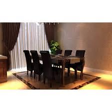 vidaxl esszimmerstühle 6 stk braun kunstleder