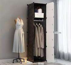 tragbare kleider schränke 14 x 14 tiefe lagerung schlafzimmer schrank organizer mit türen 6 würfel 2 kleiderbügel buy tragbare