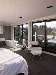 Inspiration For A Modern Carpeted Bedroom Remodel In Auckland