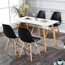 Shop VECELO Home Kitchen Dining Chair Sets Wood Legs (Set Of 4 ... Minimal Ding Rooms That Offer An Invigorating New Look New York Herman Miller Eames Chair Ding Room Modern With Ceiling Eatin Kitchen With Rustic Round Table Midcentury Chairs Hgtv Senarai Harga Ff 100cm Viera Solid Wood 4 Shop Vecelo Home Chair Sets Legs Set Of Eames Youtube Biefeld Besuchen Sie Pro Office Vor Ort Room Progress Antique Meets Stevie Storck Modern Fniture Uk Canada For Style By Stang 5pcs Tempered Glass Top And Pvc Leather Saarinen Design Within Reach Buy Midcentury Online At