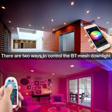 badezimmer 4er bluetooth smart 5w led einbaustrahler rgbw