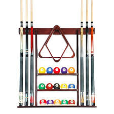 Cue Rack ly 6 Pool Billiard Stick Ball Set Wall Rack Holder