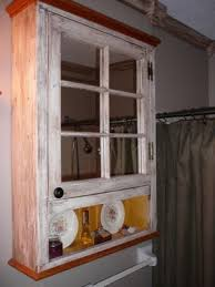 Old Window Medicine Cabinet