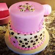 Baby Shower Girl Cake Leopard And Pink LeopardPink Baby